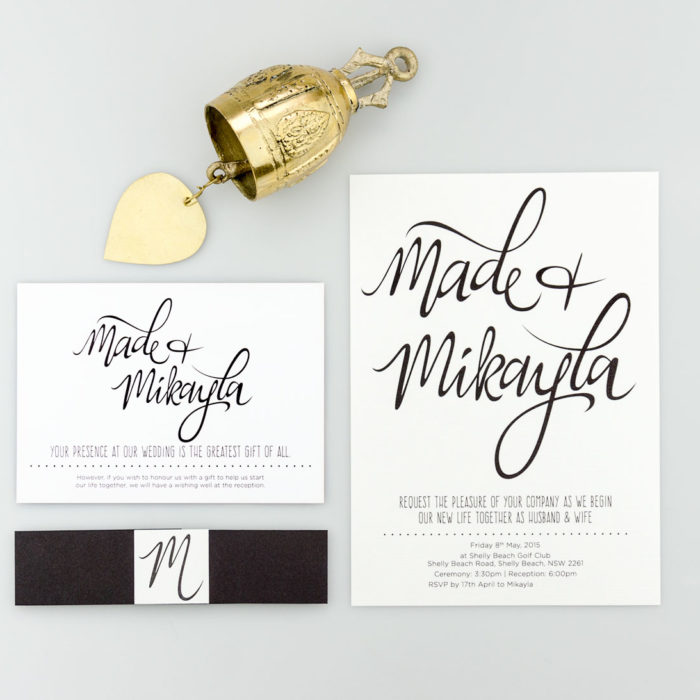 MIKAYLA + MADE WEDDING INVITATIONS
